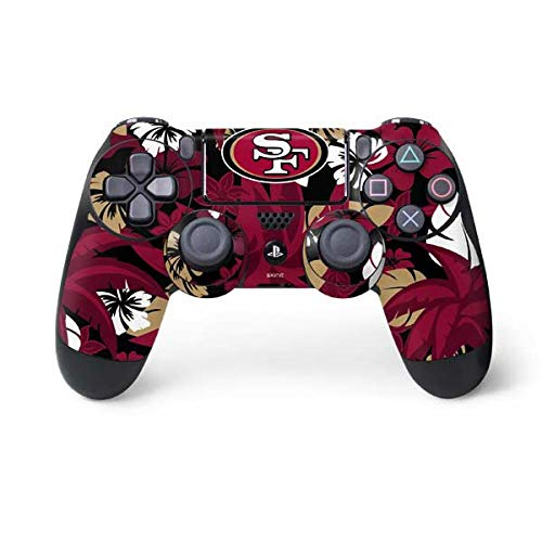Skinit San Francisco 49ers Tropical Print PS4 Controller Skin - Officially Licensed NFL PS4 Decal - Ultra Thin, Lightweight Vinyl Decal Protective Wrap