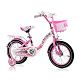 Brilliant firm Kids' Bikes Children's bicycle 2-10 years old princess bicycle 12\14\16 inch girl pedal stroller (Color : Pink, Size : 16 inches)