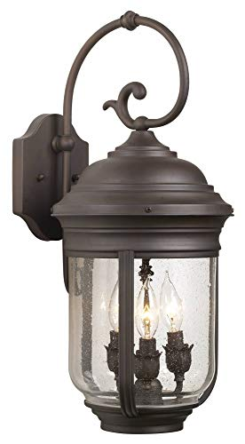 Minka Lavery Minka 8811-57 Traditional Three Light Wall Mount from Amherst Collection in Bronze/Darkfinish 3 Outdoor, Upc-747396620213 Amherst Collection 3 Light