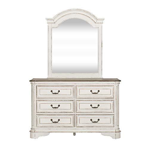 Oak Youth Dresser - Liberty Furniture Industries 244-YBR-DM. Magnolia Manor Youth Dresser and Mirror, White