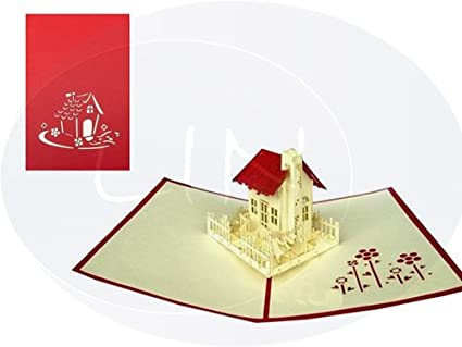 Amazon pop up architecture 3d greeting card new home moving pop up architecture 3d greeting card new home moving house m4hsunfo