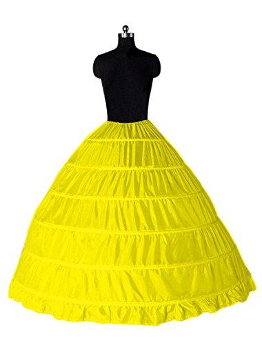 Giallo Sottovesti Sottogonne Gonne Cerchio Petticoat 6 Wedding Sottoveste Sposa Sottogonna Abiti Da E Donna Crinolina Cerchi AxZHW4np