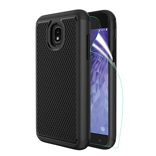 - Innge Samsung Galaxy J3 2018 Case,J3 Achieve Case,J3 Star Case,Amp/Express Prime 3,Sol 3,J3V 3rd,J3 Orbit Case w/Screen Protector,[Shockproof] Dual Layer Armor Defender Protective Case Cover,Black