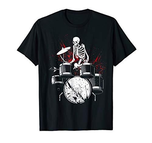 Skeleton Halloween costume for Drummer T-Shirt Funny for $<!--$16.99-->