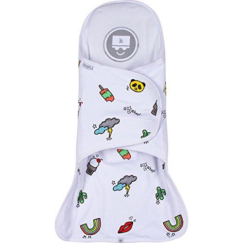 Kepi Support Swaddle – Premium 100% Cotton Knit Swaddle Sleep Wearable Blanket for Newborns - Baby Shower Infant Gift (0-3 Months) Size Adjustable]()