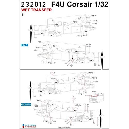 F4U-1 Corsair for Tamiya 232012 Wet Transfers HGW 1//32 Stencils