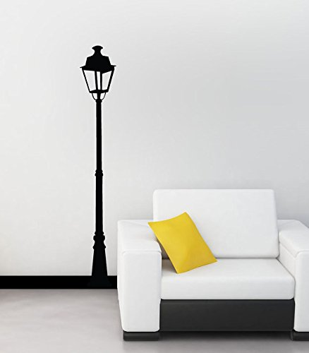CreativeWallDecals Wall Decal Vinyl Sticker Decals Art Decor Design Lamp Post Silhouette Street Lamp Light Pole Lantern Bedroom Living Room (r191) ()