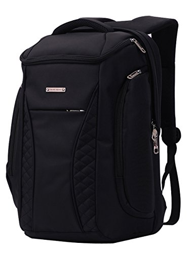 17 inch Laptop Bag for Men, Projector Backpack Large Capacity BusinessTravel Waterproof Backpack with Insulation with Strong Leakproof pocket,Strong Zipper & Stitching (Black)