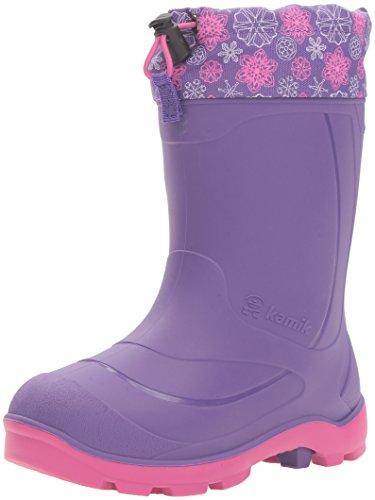 Kamik Children's Snow Boots - Kamik Kids' Snobuster2 Snow Boot, Purple/Magenta, 6 M US Big Kid