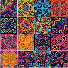 Spanish Colourful Decorative Vinyl Tile Stickers Transfers Kitchen Bathroom T66 VINYL HUT