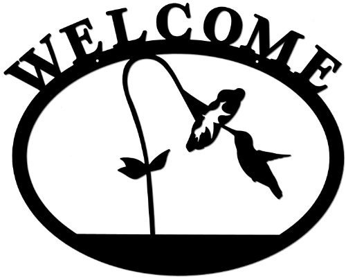 Deltech Outdoor Living Wrought Iron Welcome Sign- ()