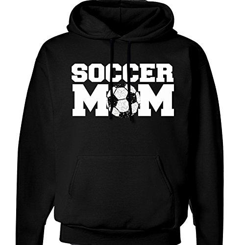 (Soccer Mom Hoodie - Sparkly Glitter Soccer Ball (XXL, Black))