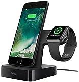 【正規代理店】belkin Apple WatchとiPhoneを同時充電 APPLE認証 充電スタンド iphone7/7plus対応 PowerHouse™ ブラック F8J200QEBLK