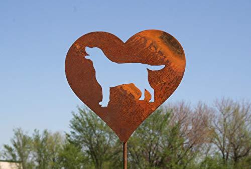 Labrador Dog Heart Garden Stake Pet Memorial