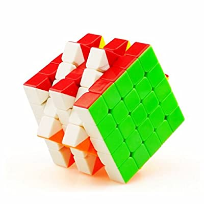 Cuberspeed YuXin Cloud 5x5 stickerless Speed Cube 5x5x5 Stickerless Magic Cube Puzzle: Toys & Games