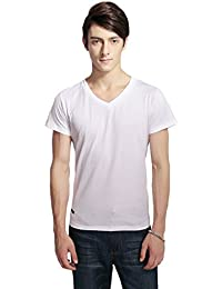 Pau1Hami1ton T-02 Men's Casual Slim Fit Cotton Tee V-Neck Short-Sleeve T-Shirts