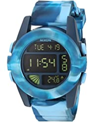 Nixon Mens A1971726-00 Unit Digital Display Automatic Self Wind Multi-Color Watch