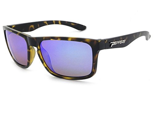 Pepper's Sunset Blvd Polarized Oval Sunglasses, Rubberized Amber Tortoise, 58 - Cambridge Sunglasses