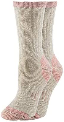 70% Merino Wool Women Crew Socks - Hiking Outdoor Athletic Thermal Thickening Cushion