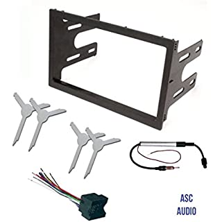 Sale ASC Audio Car Stereo Dash Kit Wire Harness Antenna Adapter and Radio Remove Tool for installing a Double Din Radio for select VW Volkswagen Vehicles - Compatible Vehicles Listed Below