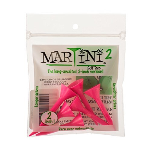 Martini 2 Golf Tees - 2 Inch - Virtually Unbreakable