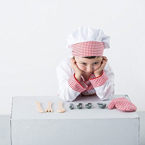 Iplay ilearn chef role play costume cooking dress up set for Kitchen set for 2 year old boy