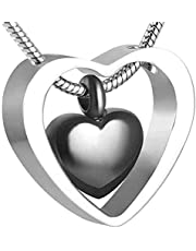 Cremation Urn Necklace Ashes Necklace Memorial Jewelry Small Souvenir Urn Double Heart Cremation Ashes Pendant Funnel Filling Kit