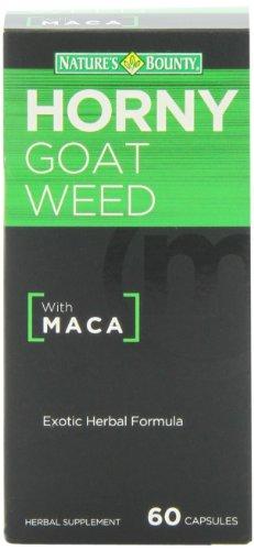 Природы Bounty Horny Goat Weed с Мака, 60 капсул (в упаковке 2)