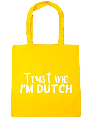 Tote Shopping Bag x38cm Trust Gym 10 me Dutch litres HippoWarehouse Yellow Beach 42cm I'm w6TF1UFxq