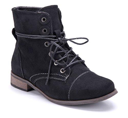 a6d71592666d93 Schuhtempel24 Damen Schuhe Klassische Stiefeletten Stiefel Boots  Blockabsatz 3 cm Schwarz