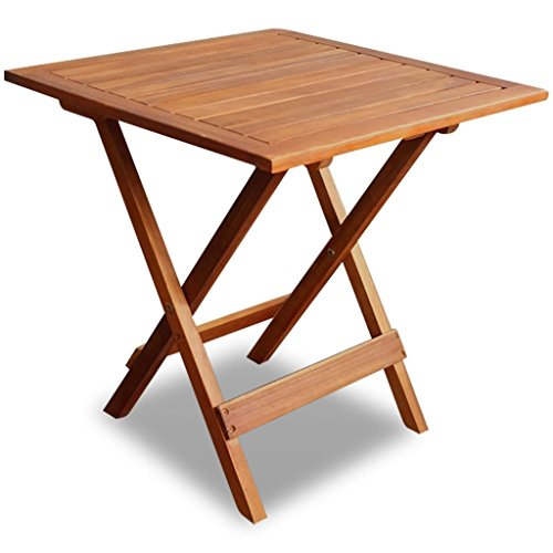 vidaXL Outdoor Folding Square Coffee/Side Table Acacia Wood Patio Deck Garden Furniture from vidaXL