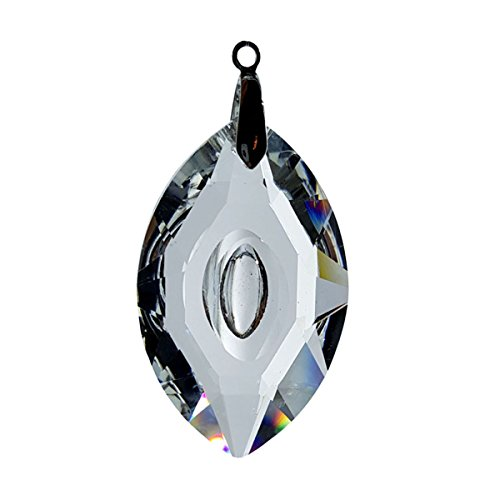 #7321-76, Crystal Cat Eye Marquis Cut Feng Shui Window Prism 76mm / 3 Inches