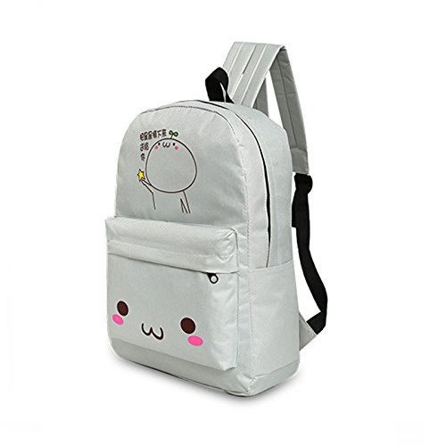 Espeedy Mujer coreana viaje mochila con estuche de lápiz de nylon dibujos animados de impresión damas bolsas de hombro niñas Escuela de estudiantes bolsa 3
