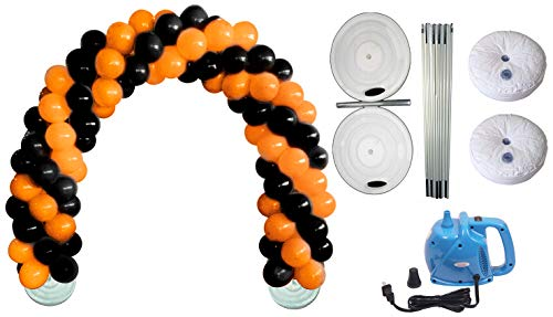 Deluxe DIY Professional Balloon Arch Kit (Halloween Orange and Black) (1/Pkg) Pkg/1 -