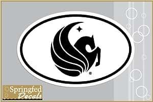 Amazon Com Ucf Knights Pegasus Logo Euro Style Vinyl
