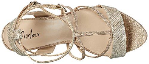 MENBUR Algar - Sandalias de tobillo Mujer Dorado - Gold (Sand)