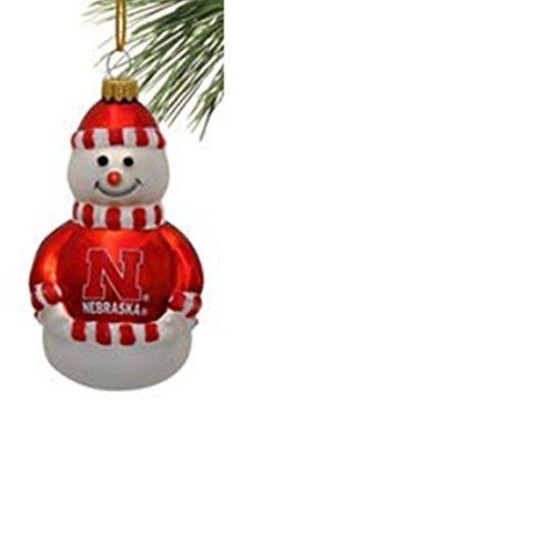 Nebraska Cornhuskers Ncaa Snowman (NCAA Nebraska Cornhuskers Licensed Glass Snowman Ornament)