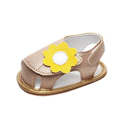 Schuhe für Baby - Sommer Sandalen - Baby Sandalen Gladiator - Fashion Sneaker - Casual Slipper - Schuhe für Kinder rutschfester Sohle für Babys für 0-3 3-6 6-9 9-18 18-24 Monat (18~24M, Rose) Gold