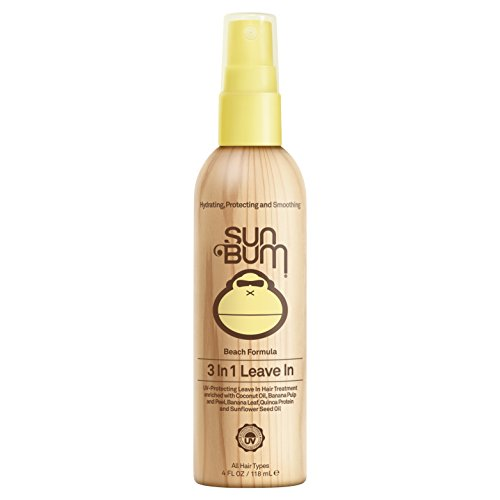 Condition 3 In 1 Sunscreen - Sun Bum Beach Formula 3-in-1 Leave-In Hair Conditioner Spray, 4 oz Spray Bottle, 1 Count, Detangler, UV Protection, Paraben Free, Gluten Free, Vegan, Color Safe