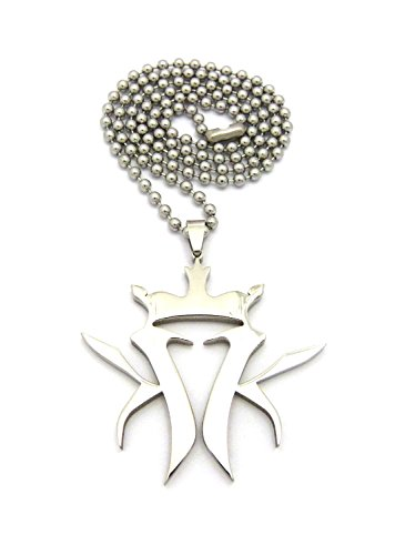 Crescendo SJ INC New Kottonmouth King Stainless Steel Pendant &3mm/24 Ball Chain Necklace XP620SBC (Kottonmouth Kings Chain)