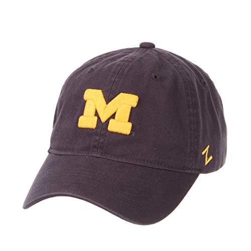 Zephyr NCAA Mens Relaxed Fit Scholarship- Adjustable Cotton Crew Hat Cap (Michigan Wolverines, Adjustable) ()