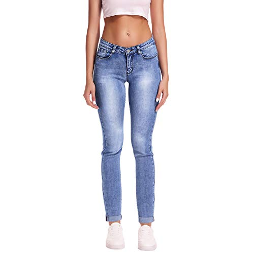 ors Timeless Mid-Rise Stretchy Skinny Jeans (03 Light Blue, 10-L) ()