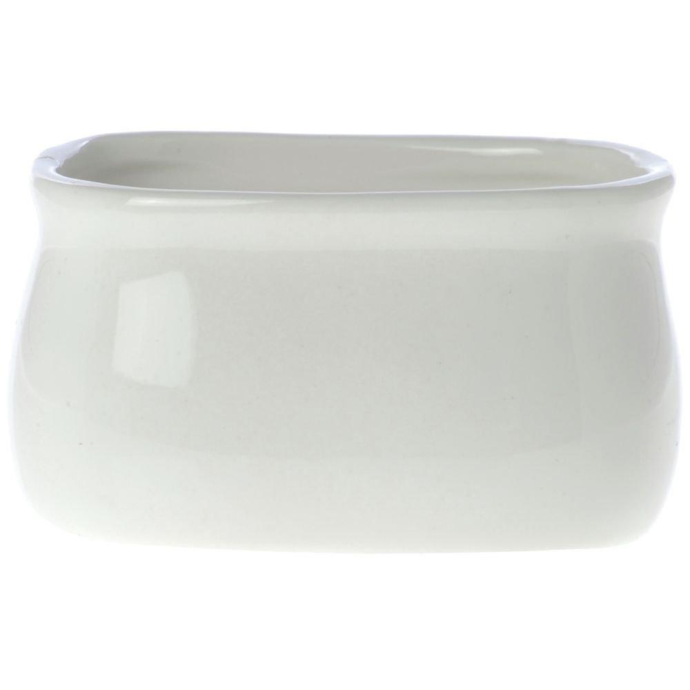 American Metalcraft Rectangular Bright White Porcelain Sugar Packet Holder - 3 1/4L x 2 1/2W x 1 7/8H AMERICAN METALCRAFT INC