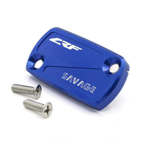 crazy sport Front Brake Fluid Reservoir Cover Cap For HONDA CRF 450R 250R150R 450X 250X 230F Motorcycle Accessories CNC Aluminum With Logo (Blue) ()