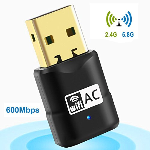 USB Wifi Adapter, AC600 Mini Wireless Network Wifi Dongle for PC/Desktop/Laptop/Tablet,Dual Band (2.4G/150Mbps+5G/433Mbps) 802.11 ac,Supports Windows XP/7/8/10, Mac OS X 10.4-10.11 from Fancy Room