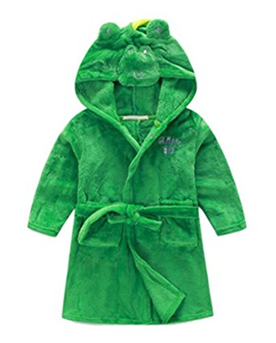 Toddlers/kids/baby Soft Fleece Bath Robe Bathrobe Pajamas Sleepwear 90cm
