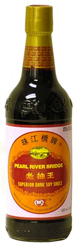 Pearl River Bridge Superior Dark Soy Sauce, 16.9-Ounce Glass Bottles (Pack of 2)