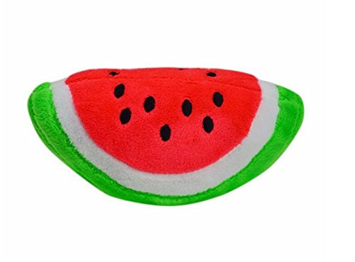 Coat Plush Dog (OOEOO Puppy Chew Toy Dog Squeaky Plush Sound Cute Watermelon Plush Design Teething Toys (Half Round, Free Size))