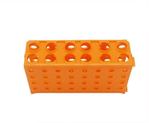 Portaprovette multi-funzionale Provetta Holder Plastica provette multifunzione 4 WAY provette di plastica (arancione) Muhwa eCommerce Co. Ltd