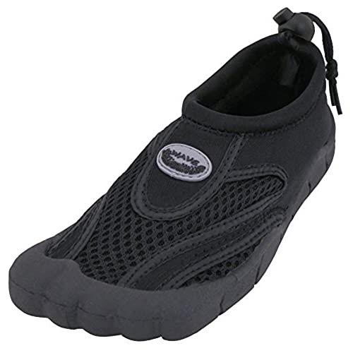 Cambridge Select Men's Quick Dry Mesh Slip-On Drawstring Non-Slip Toe Water Shoe